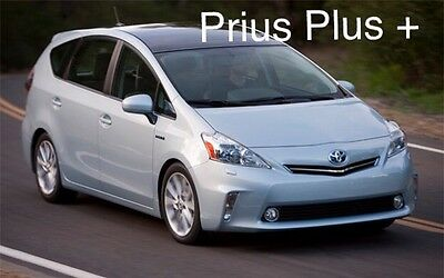 Toyota Prius Plus 7 Seater 2012-2013 window visor Deflector Sun Rain Guard SMOKE