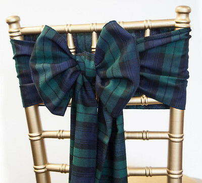 Christmas Tartan Black Watch Sashes Table Runners Napkins Burns Night Decor