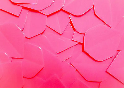 10 Sets Pink Dart Flights - Extra Strong 100 Micron thickness - Standard shape