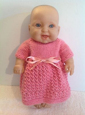 Berenguer Extremely Realistic Vinyl Baby Doll 34cm Tall Silver Eyes VGC