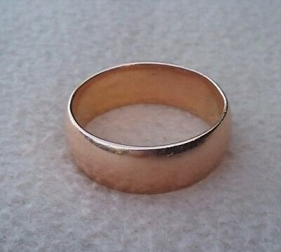Antique Russian 56 14K Rose Gold Heavy Wedding Band Ring Uk Size Z Us 12 1/2