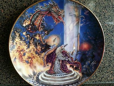 ROYAL DOULTON DRAGON MASTER PLATE No.PD12729 - FRANKLIN MINT/ NEW/ Myles Pinkney