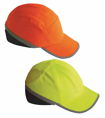 Portwest PW79 Safety Bump Cap Hi Vis Areated Mesh ABS Shell Work Head Protection
