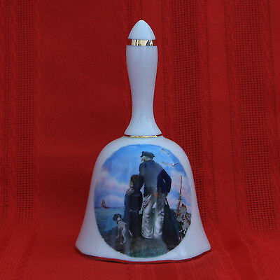 NORMAN ROCKWELL 1982 Royal Eaton PORCELAIN COLLECTOR'S BELL LOOKING OUT TO SEA