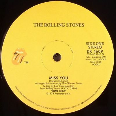 """ROLLING STONES, The - Miss You - Vinyl (12"""")"""