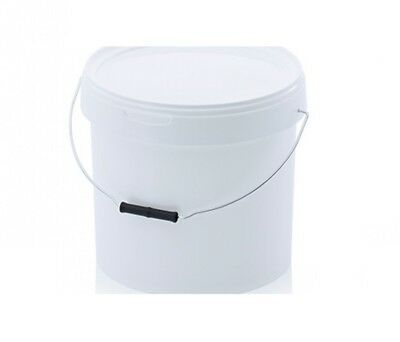 Bucket 10,8l Round with Lid and Originality Closure 10 Litre White 10 L hobbock
