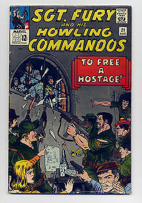 Sgt. Fury and His Howling Commandos #21 G/VG 1965 ~ Marvel Comic Book Stan Lee