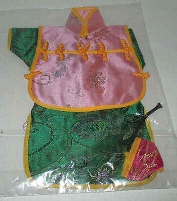 """Oriental Doll Small Doll Clothes 9"""" Neckline to Bottom 2"""" Hat Laying Flat(CS-S1)"""