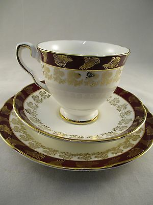 Lovely Vintage Royal Stafford  China Trio Tea Cup Plate Saucer - Morning Glory