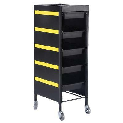 6 Tiers Drawers Salon Hairdresser Barber Beauty Storage Trolley Rolling Cart Spa