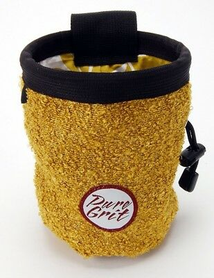 Women's Climbing Gold Chalk Bag (USA made) with Belt. Pure Grit & Flying Daisies