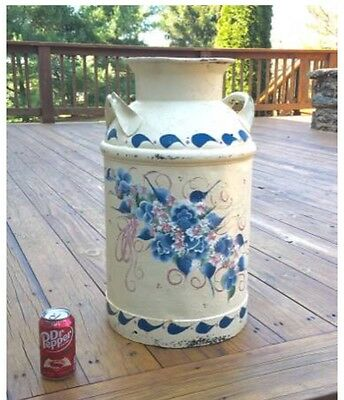 Beautiful Tole Painted Milk Can