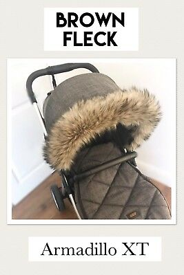 MAMAS AND PAPAS ARMADILLO FLIP Pram Pushchair Hood Fur Trim,BUGGY UNIVERSAL