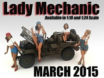 """""""Lady Mechanics"""" 4 Piece Figure Set For 1:18 Scale Models by American Diorama"""