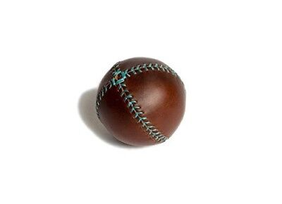 Lemon Ball Baseball. Brown Horween Chromexcel Leather, Turquoise Stitch