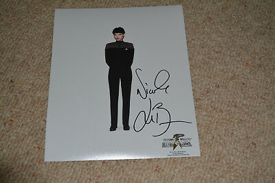 NICOLE DE BOER signed Autogramm 20x25 cm In Person STAR TREK DS9 Ezri Dax