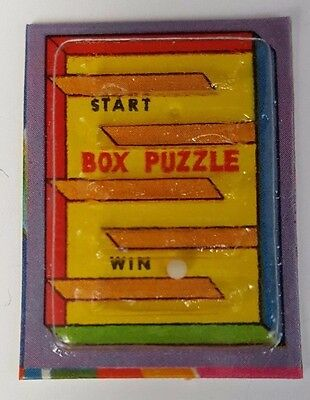 1973 Vintage Cracker Jack Prize Toy Box Puzzle Game