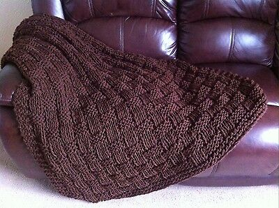Knitting pattern- Chunky Basket Weave Blanket / Sofa Throw
