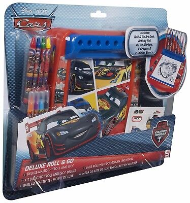 Disney Pixar Cars Deluxe Roll and Go art set,colouring fun,childrens uk