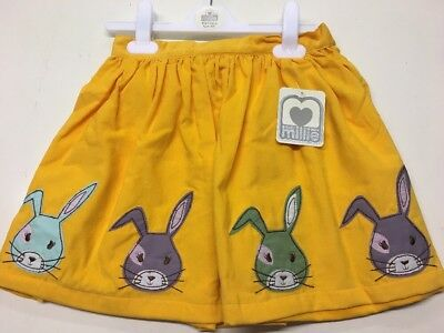 Gorgeous Age 6/7 Years Cord Bunny Detailed Skirt. Rrp £16.00 Bargain!!!!