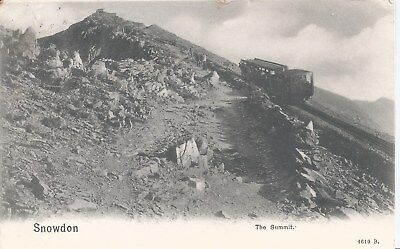 Postcard - The Summit Snowdon Wales posted 1905