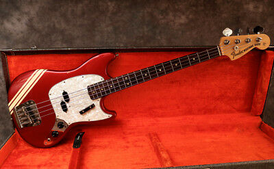 1971 Fender Mustang Bass - Competition Red - Ohsc - Andy Baxter Bass