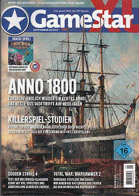 GameStar September 09 2017, neuwertig, Game Star, mit DVD, Anno 1800