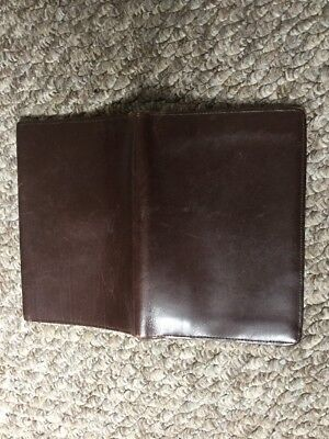 Vintage Gents Wallet/Document Holder. Brown Leather. Free Post.