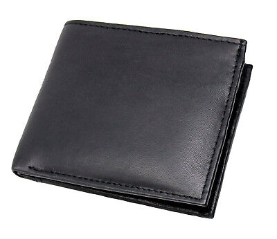 Mens Rfid Blocking Real Leather Slim Wallet With Id & Secure Zip Coin Pocket 121