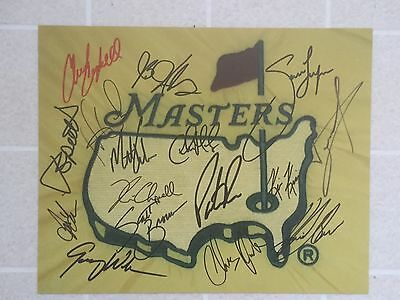 2017 MASTERS Field Top Players LOGO Signed Photo Jordan Spieth
