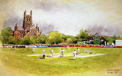 Worcestershire County Cricket Club.Signed Artists Print