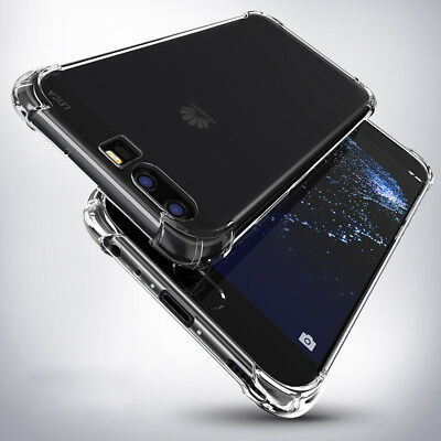 360°Shockproof Transparent Silicone Soft TPU Back Case Cover For Huawei & Xiaomi