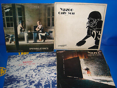 Lote De 4 Vinilos -YAZOO -Only you-Upstairs at eric-dont go the remixes-you & me