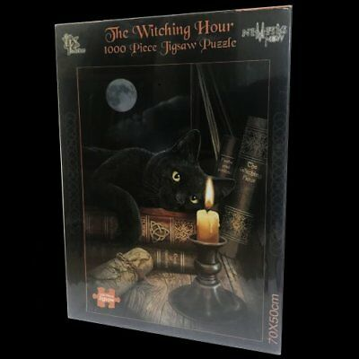*THE WITCHING HOUR* Black Cat 1000 Piece Jigsaw By Lisa Parker (70x50cm)