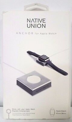 Native Union - ANCHOR Base for Apple Watch 38mm and 42mm - Silver/Gray