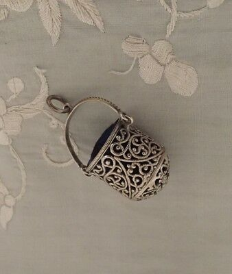 Chatelaine Filigree Thimble Holder
