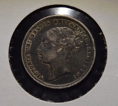 Great Britain England 1885 6 Pence Silver Coin Great Details - Ja19