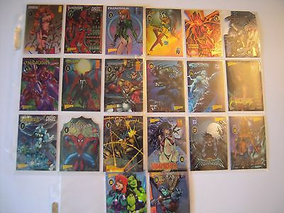 Wizard  Trading Cards Serie Iv Spiderman Superman  Etc   20 Cards  Chromium