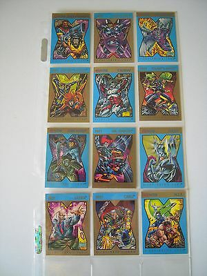 X Men  X -Cutioner's  Song  12 Cards Skybox 1992  Tbe