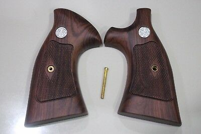 Target Grips S&w K L Frame Square Butt Wood Checkered Diamond Nice Grain #random