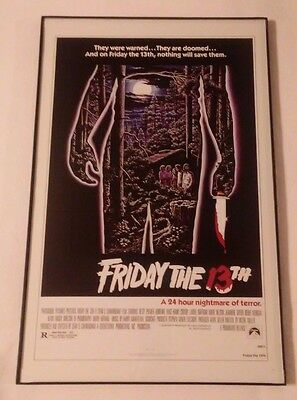 11 X 17 Framed 1970's Movie Poster : FRIDAY THE 13th 24 Hour Nightmare Of Terror