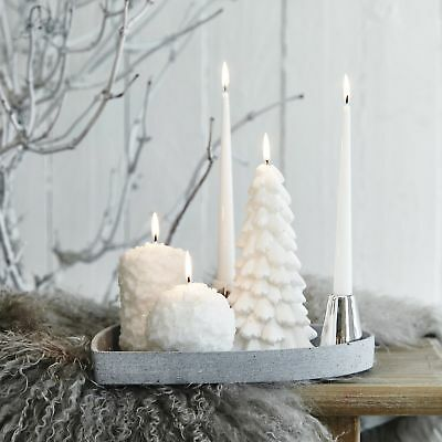 Christmas Tree Decorative Candle by Lene Bjerre, Festive, 20cm, 35 hour burntime