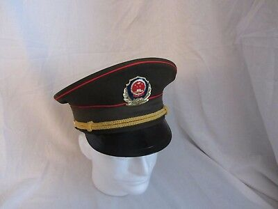 Chinese ARMY PLA Type 87 Officer Visor Cap w badge Size 57 or 58