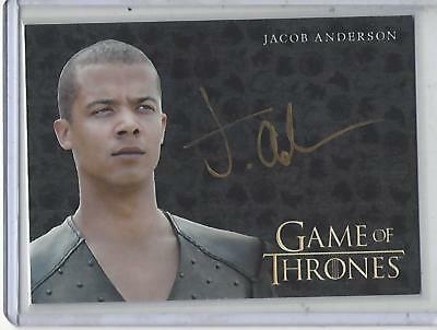 Game of Thrones Valyrian Steel Jacob Anderson GOLD autograph