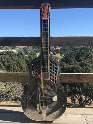 1928 National Tricone Style 2 Square Neck  Vintage Resonator Guitar FANTASTIC!