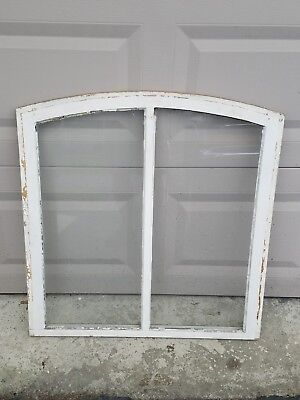 Vintage Arched Wood Window Frame Sash Picture Frame Shabby   LOCAL PICK UP ONLY
