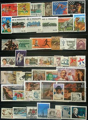 (H151) US, Canada & other countries stamps, used
