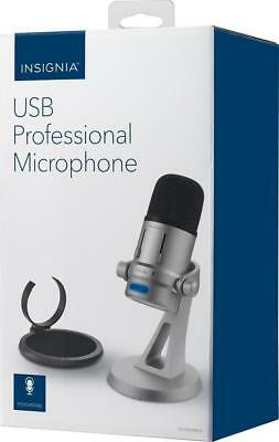 Insignia USB Professional Microphone - Silver/black NS-PAUBMD8 New Other