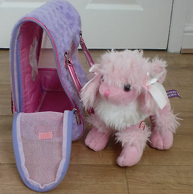 Pucci Pups Dog Bag Carrier with Cute Pink Doggie!