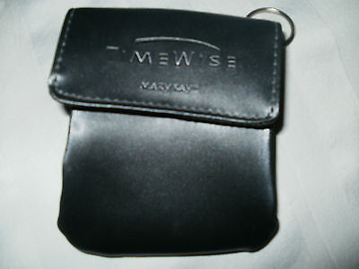 MK * LTD EDITION Time Wise CELL & KEY CHAIN HOLDER *Black with secure closure.